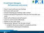 ei and project managers self awareness and control