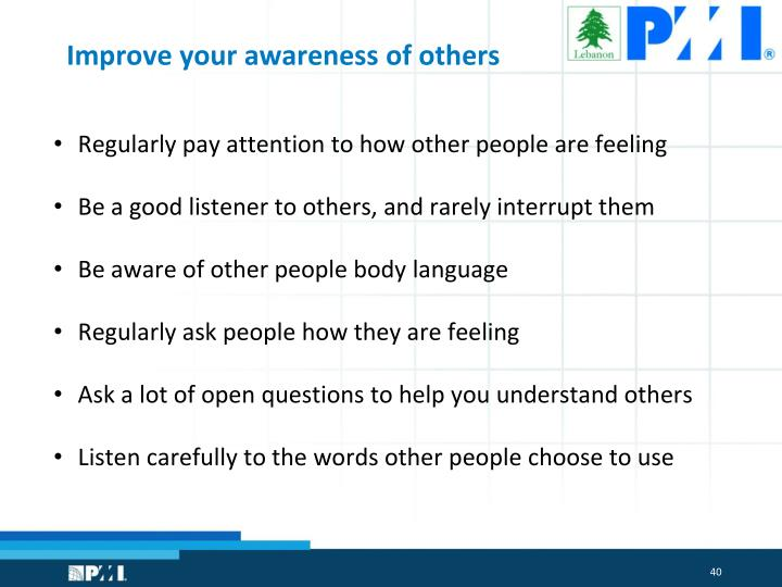 Improve your awareness of others
