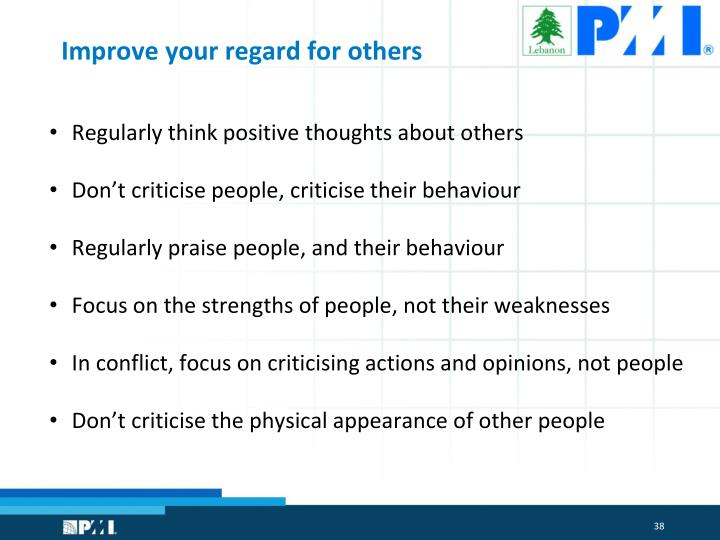 Improve your regard for others