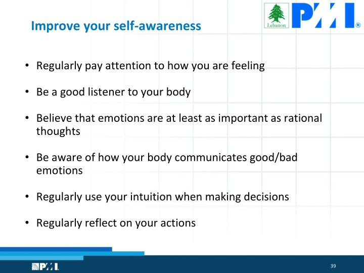 Improve your self-awareness