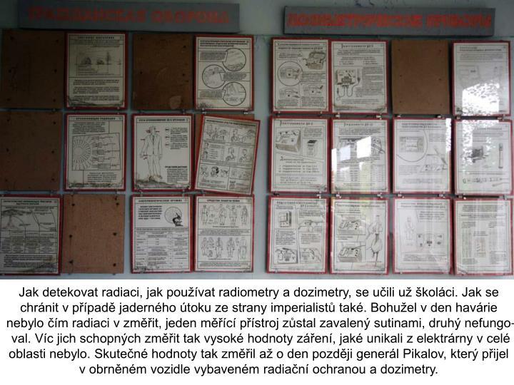 Jak detekovat radiaci, jak používat radiometry a dozimetry, se učili už školáci. Jak se