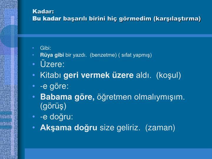 Kadar: