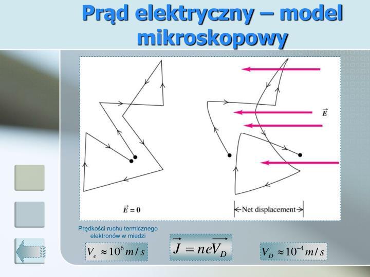 Prąd elektryczny – model