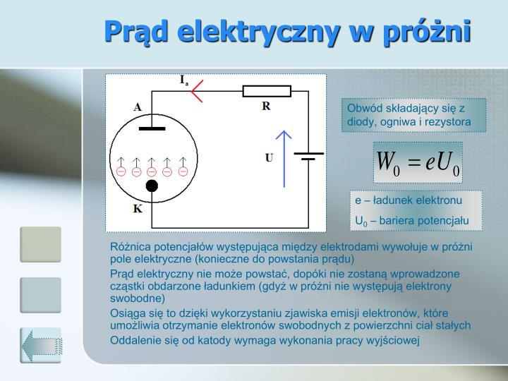 Prąd elektryczny w próżni