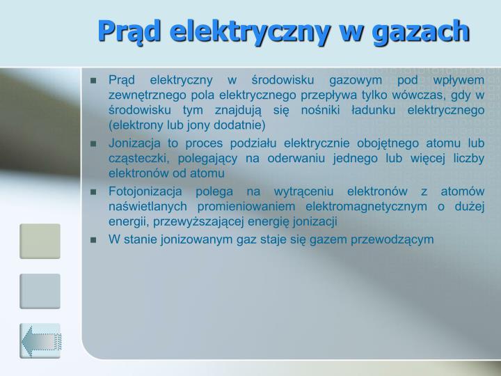 Prąd elektryczny w gazach