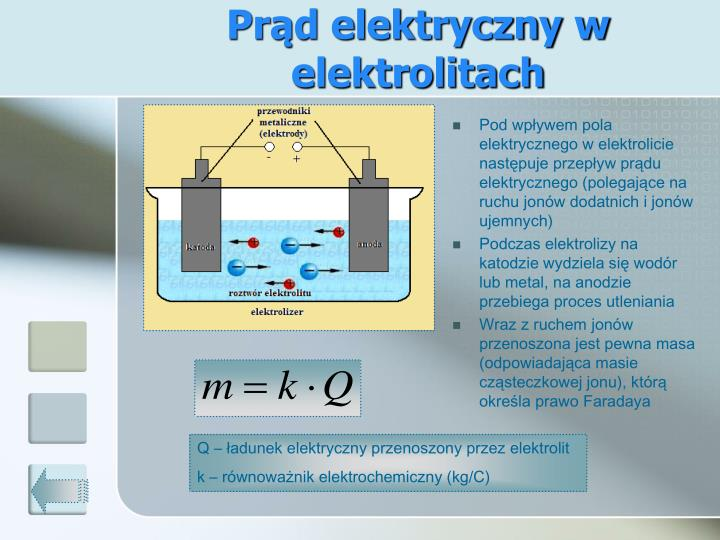 Prąd elektryczny w elektrolitach
