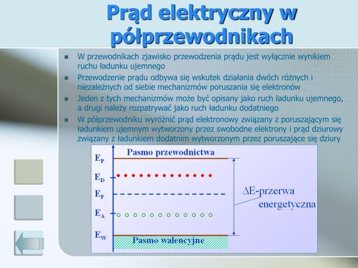 Prąd elektryczny w półprzewodnikach