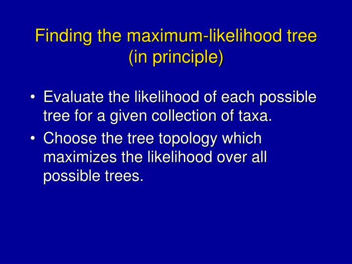Finding the maximum-likelihood tree