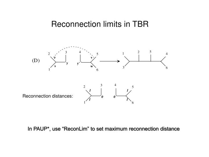Reconnection limits in TBR