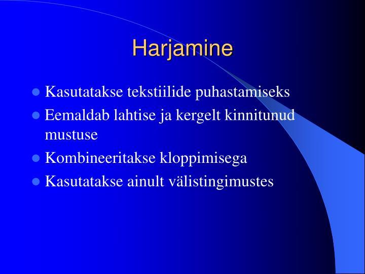 Harjamine