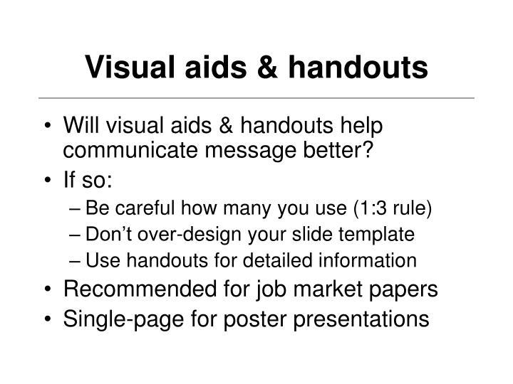 Visual aids & handouts