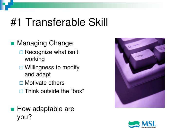 #1 Transferable Skill