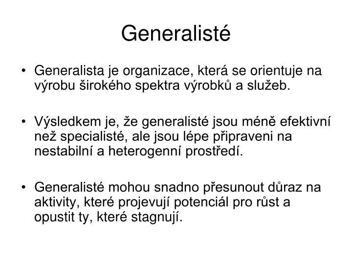 Generalisté