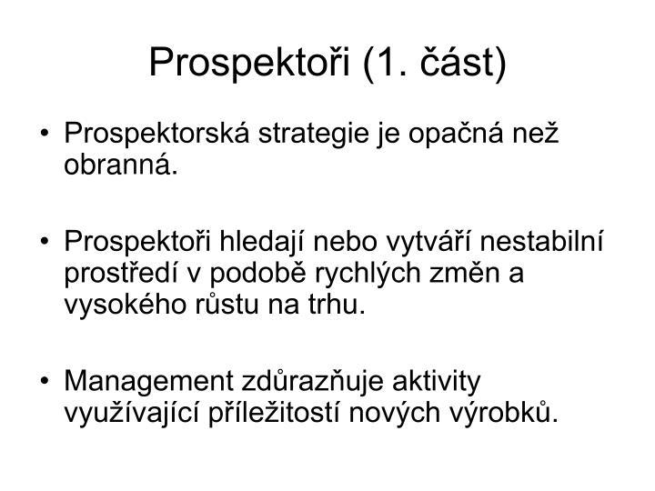 Prospektoři (1. část)