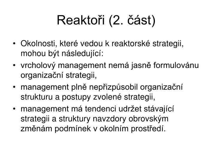 Reaktoři (2. část)