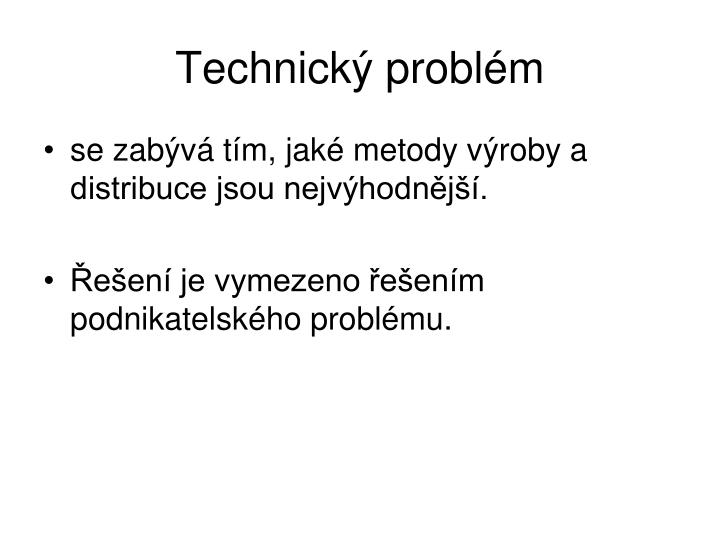 Technický problém