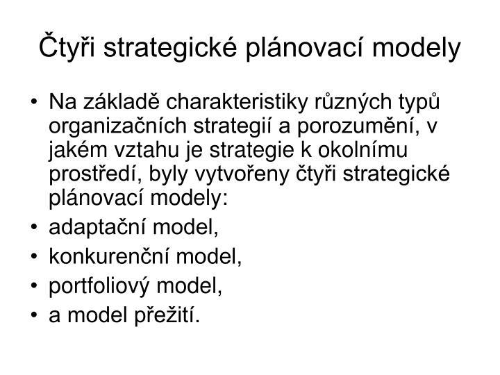 Čtyři strategické plánovací modely