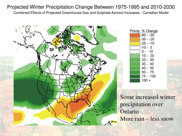 Projected Winter Precipitation Change Between 1975-1995 and 2010-2030