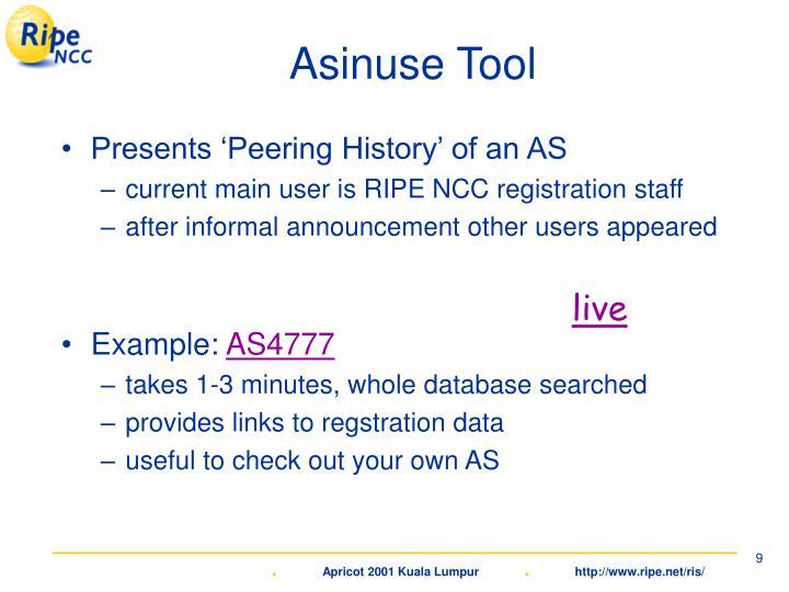 Asinuse Tool