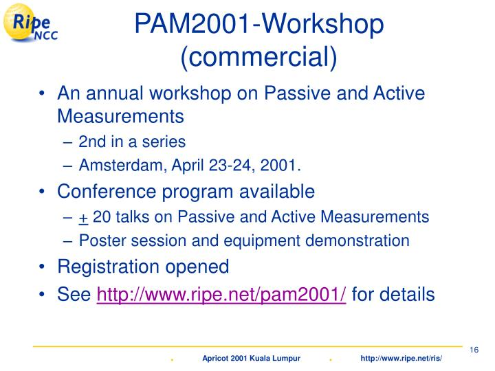 PAM2001-Workshop