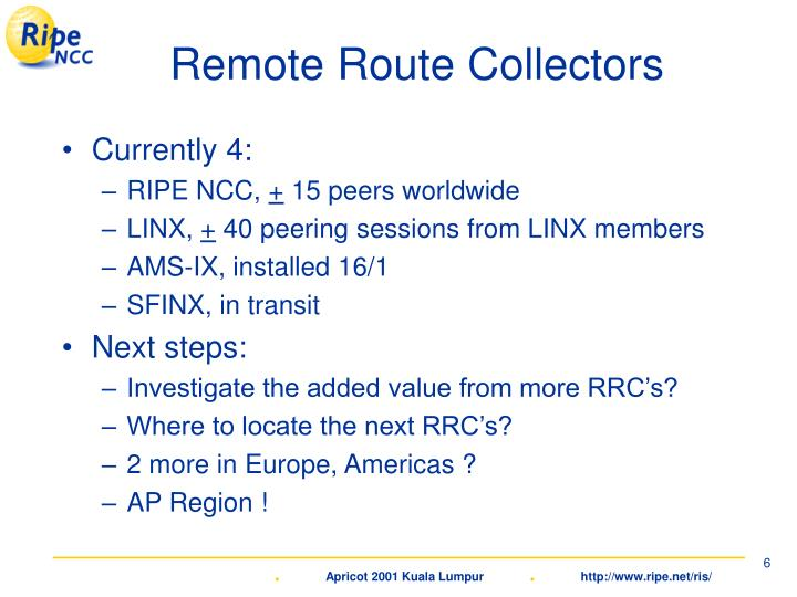 Remote Route Collectors