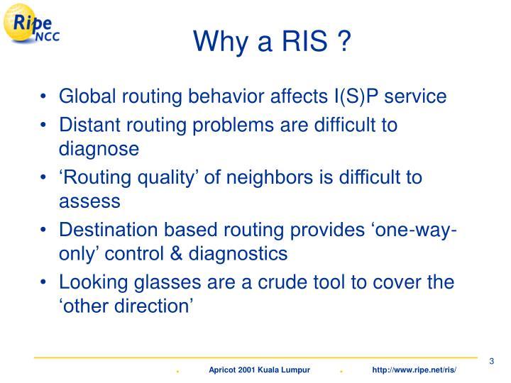 Why a RIS ?