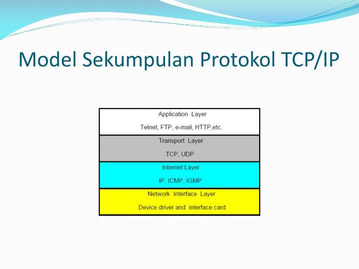 Model Sekumpulan Protokol TCP/IP