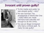 innocent until proven guilty