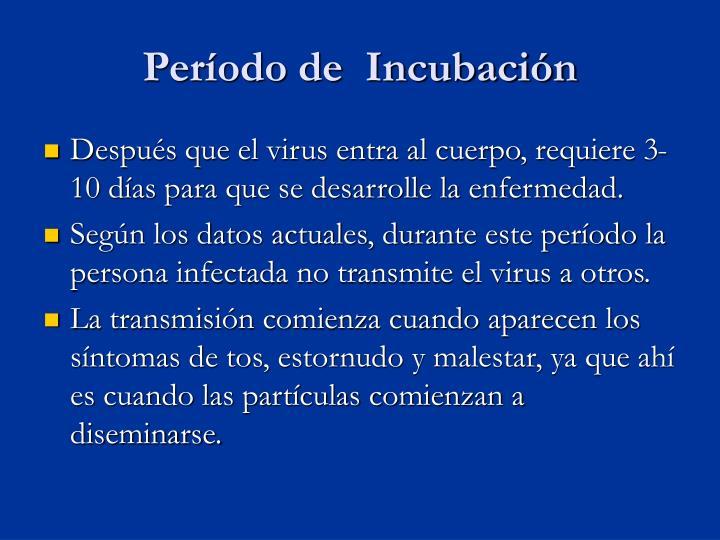 Período de  Incubación