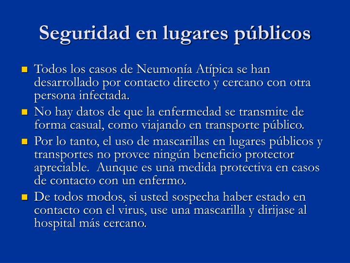 Seguridad en lugares públicos