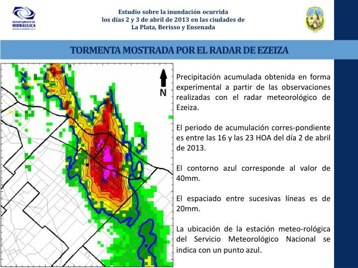Estudio sobre la inundación ocurrida