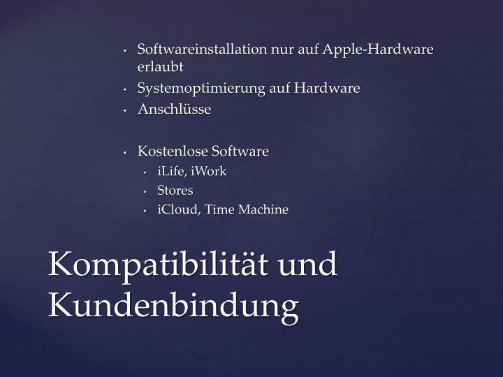 Softwareinstallation nur auf Apple-Hardware erlaubt