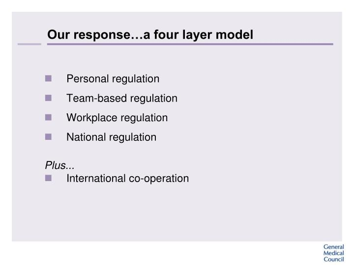 Our response…a four layer model
