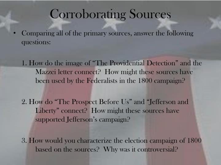 Corroborating Sources