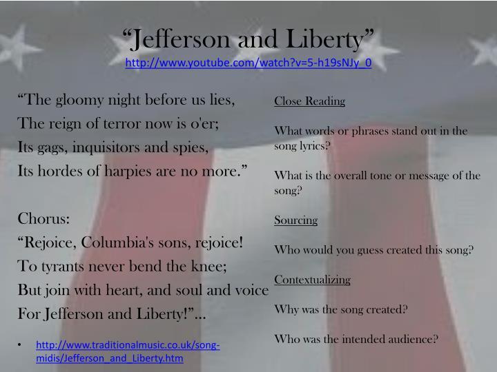 """""""Jefferson and Liberty"""""""