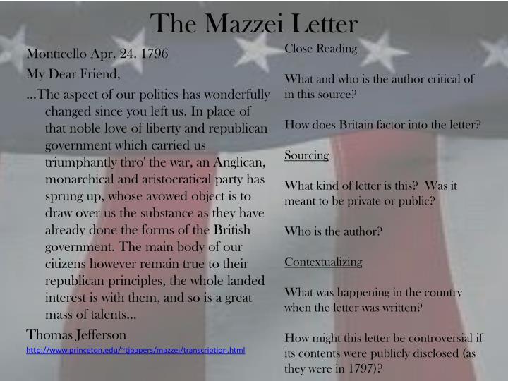 The Mazzei Letter