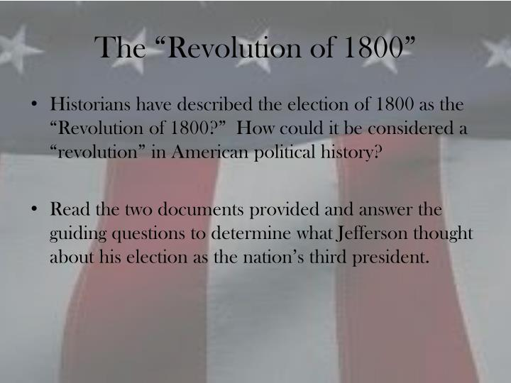"The ""Revolution of 1800"""
