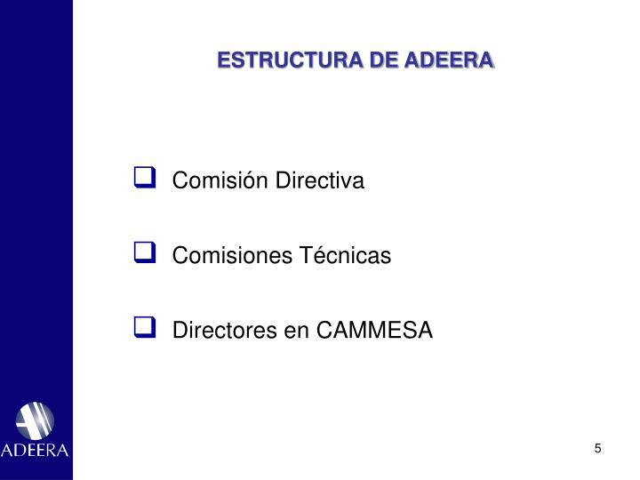 ESTRUCTURA DE ADEERA