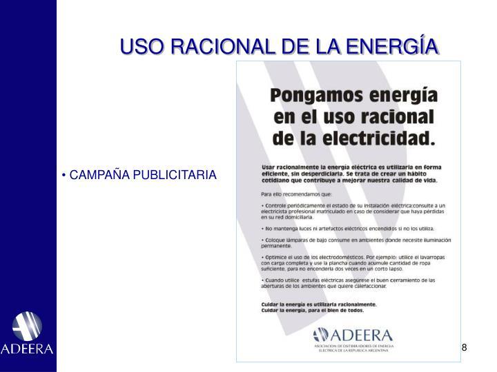 USO RACIONAL DE LA ENERGÍA