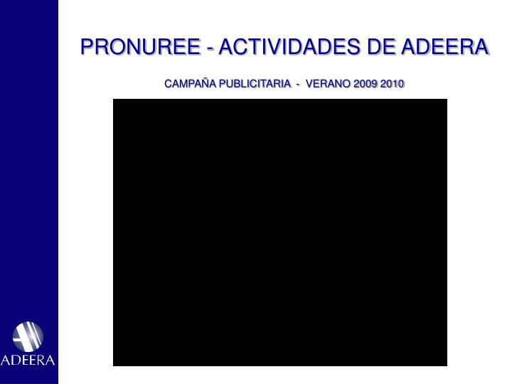 PRONUREE - ACTIVIDADES DE ADEERA