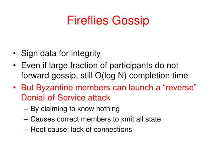 Fireflies Gossip