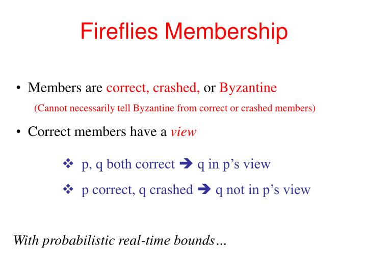 Fireflies Membership