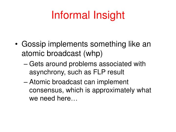 Informal Insight