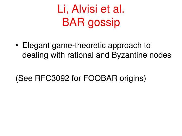 Li, Alvisi et al.