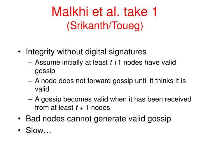 Malkhi et al. take 1