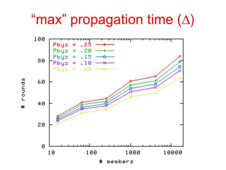 """""""max"""" propagation time ("""