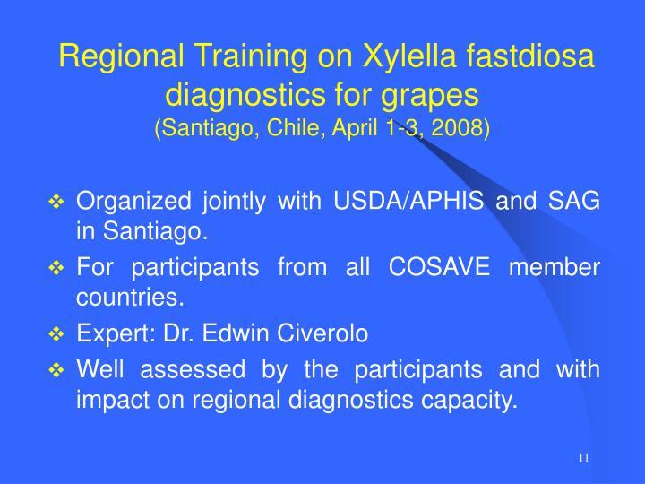 Regional Training on Xylella fastdiosa diagnostics