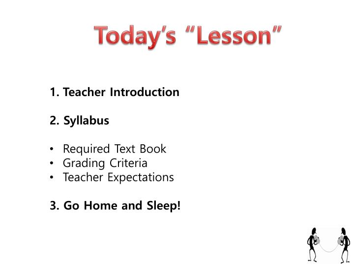 "Today's ""Lesson"""