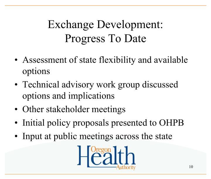 Exchange Development: