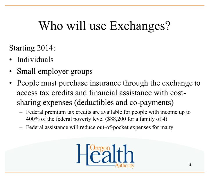 Who will use Exchanges?